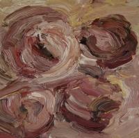 Rosen I, Öl auf Papier, 20 x 20 cm