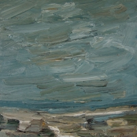 Sylt, Öl auf Karton, 30 x 30 cm