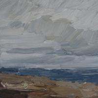 Winter am Meer, 2015, 30x30 cm
