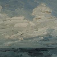 Winterhimmel II, 2015, 30 x 30 cm
