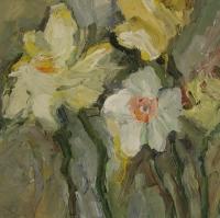 Frühling Narzissen, 2015, 30x30 cm