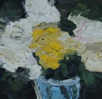 Blumen im Winter II, 30 x 30 cm