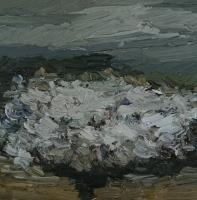 Blühende Schlehen, Traisa, 30x30 cm