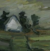 Gehöft bei Asbach II, 30 x 30 cm