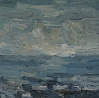 Lichte See, 30 x 30 cm