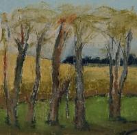 Skizze 4,o.T., Pastell, 20 x 20 cm