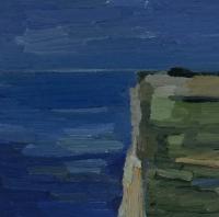 Steilküste bei Groß Zicker, 30x30cm