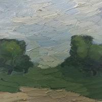 Bäume im Vorderen Odenwald, 30x30cm