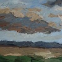 Aufziehendes Wetter, 30 x 30 cm