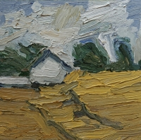 Rügen, Felder mit Gehöft